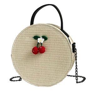 YouR Style- Round Rattan Crossbody Cherry Sand